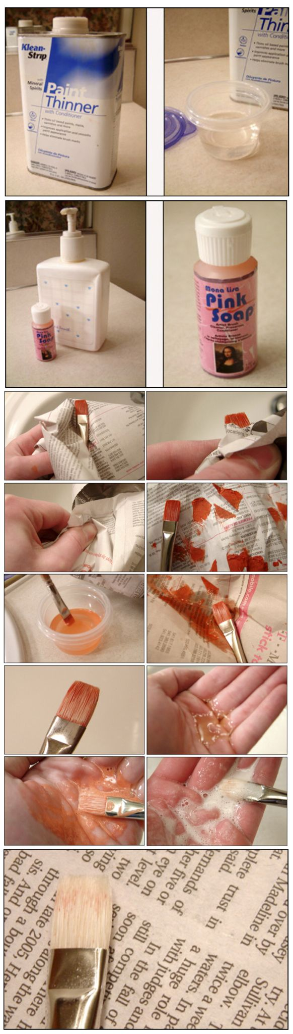 'How to Clean your Paint Brushes after Oil Painting: Brush Cleaning 101...!' (via EmptyEasel)