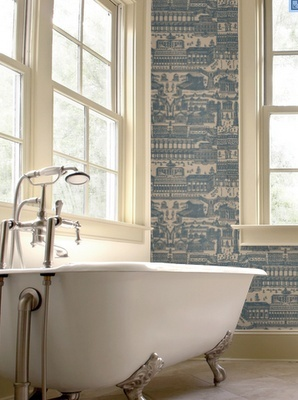 1000 images about wallpapered bathrooms on pinterest for Bathroom wallpaper near me