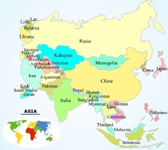 asia continent map and travel information home worldwide maps asia maps asia maps