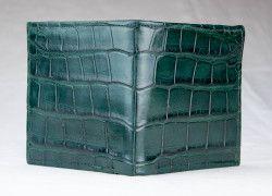 Green Matte Alligator Wallet by John Allen Woodward