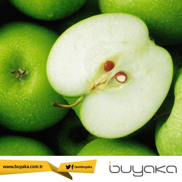 Öneri: Yemeklerden önce yeşil elma yiyerek beyninize çok daha çabuk doyma sinyali yollayabilir ve kilo vermeyi hızlandırabilirsiniz. :) #Buyaka #Yaşam #Sağlık #Öneri #Elma #BuyakaBiBaşka