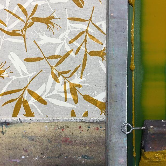 A touch of turmeric #Correa #fabric #screenprint
