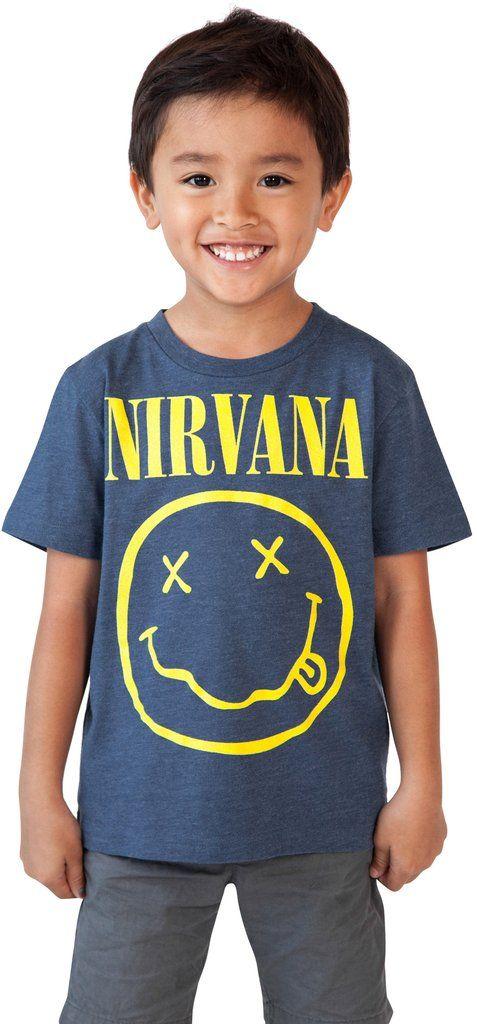 Nirvana Logo Toddler Baby Boys Rock T-Shirt - Heather Blue