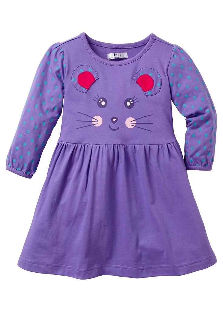 Kleid, Gr. 80-134 helllila - Kinder - bpc bonprix collection - bonprix.at