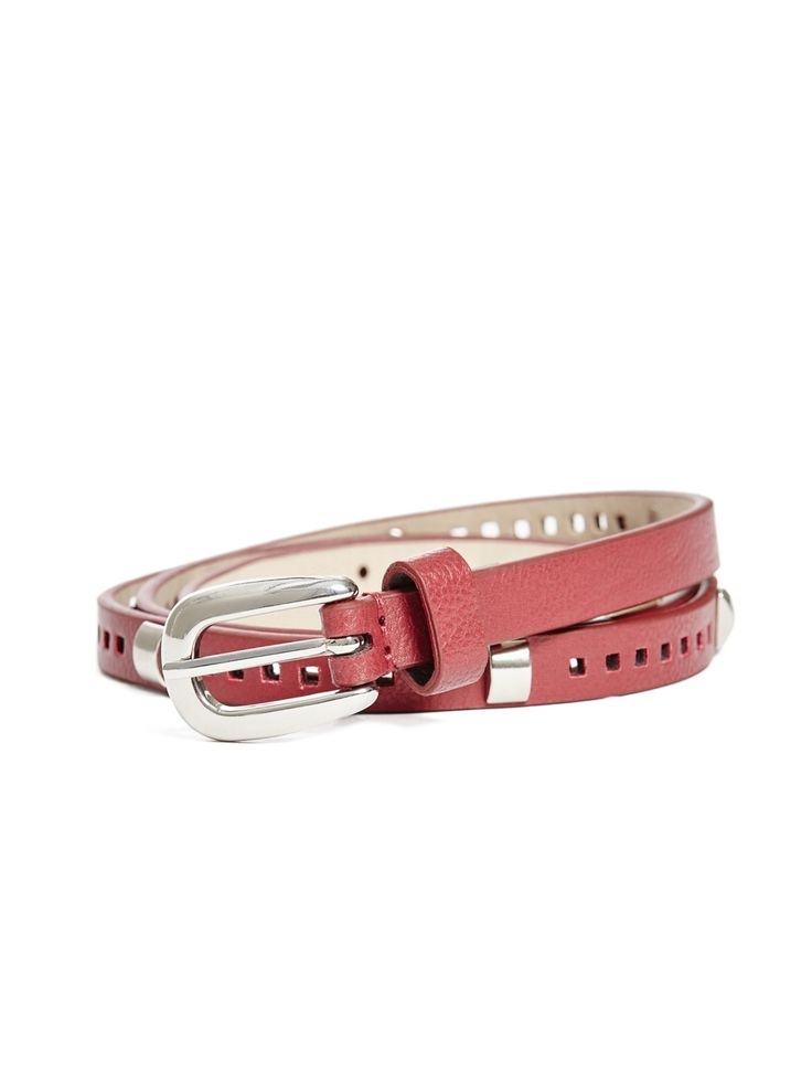 Perforated Skinny Belt