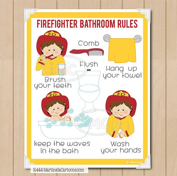 bathroom rules for kids 25 best fireman sam images on 16379