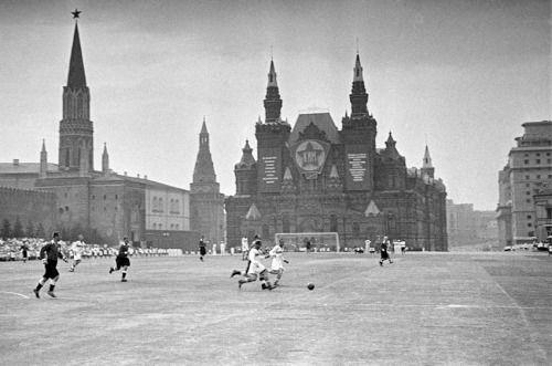 Soccer game in Red Square (1930)