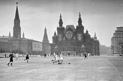 Soccer game in Red Square (1930)