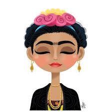 Resultado de imagem para desenhos para pintar frida kahlo