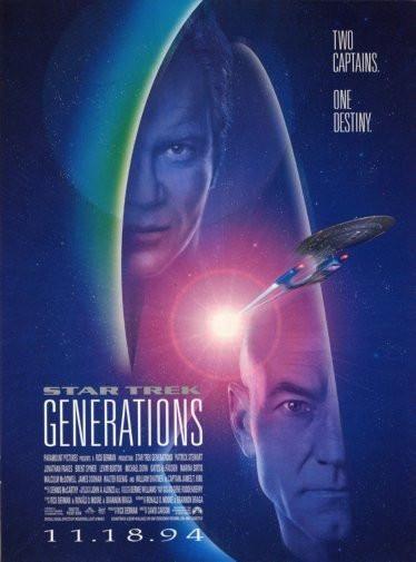 Star Trek Generations Movie Poster Puzzle Fun-Size 120 pcs