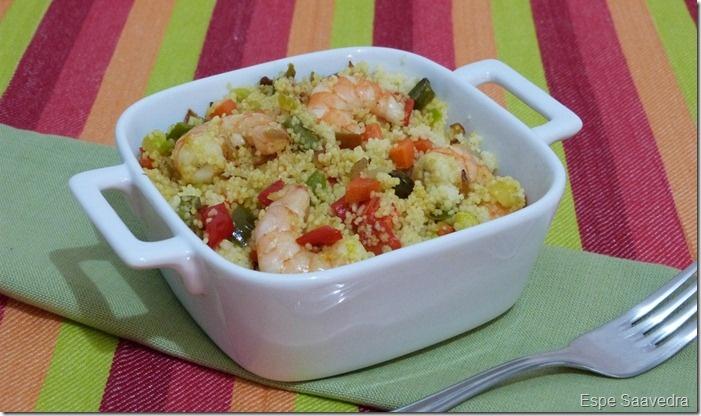 Receta de Cuscus con verduras y langostinos por Espe Saavedra