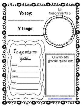 Esta es una hoja en espaol parecida a TODO SOBRE MI. Cuenta con 6 diferentes opciones para que los alumnos puedan completar la hoja escribiendo y dibujando.  Puede ser usado como para mostrar en el boletn del pasillo para el primer da o semana de clases o durante open house This is an ALL ABOUT ME page in Spanish.