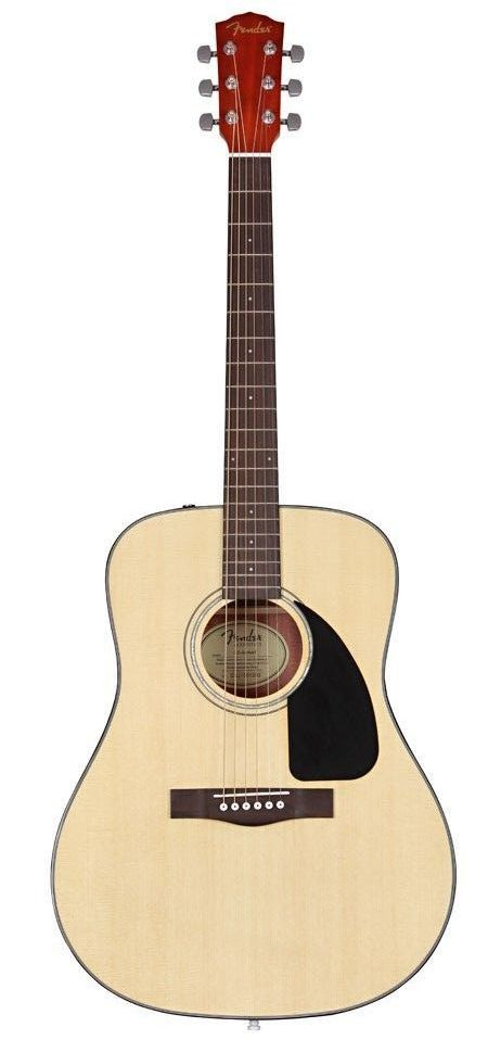 The CD-60 dreadnought boasts features you'd expect on much more expensive instruments, with a spruce top and choice of natural, sunburst and black finishes. Upgrades include a new black pickguard and