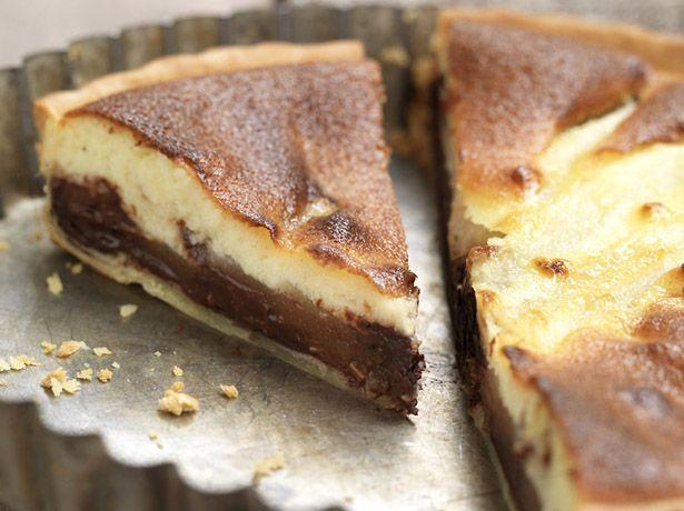 Tarte aux poires et au chocolat croquant - La Table à Dessert