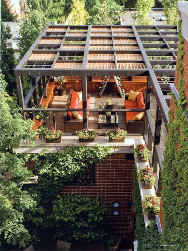 Great Homes With Beautiful Rooftop Decks And Terraces Roof Garden Design Rooftop Design Rooftop Terrace Design