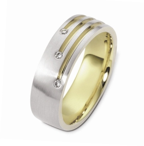 Gents Dora Round Diamonds set Wedding Ring - C2443