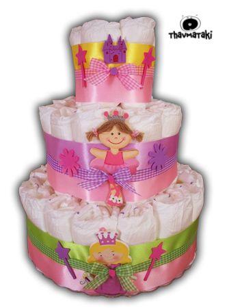 Και όμως! Έχει μόνο πάνες! Και υπέροχη διακόσμηση φυσικά. Το πιο χρήσιμο δώρο για όλα τα νεογέννητα μωράκια. Τιμή 35€