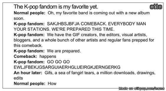 This is honestly true though. Kpop fandoms are on another level. We are the best…