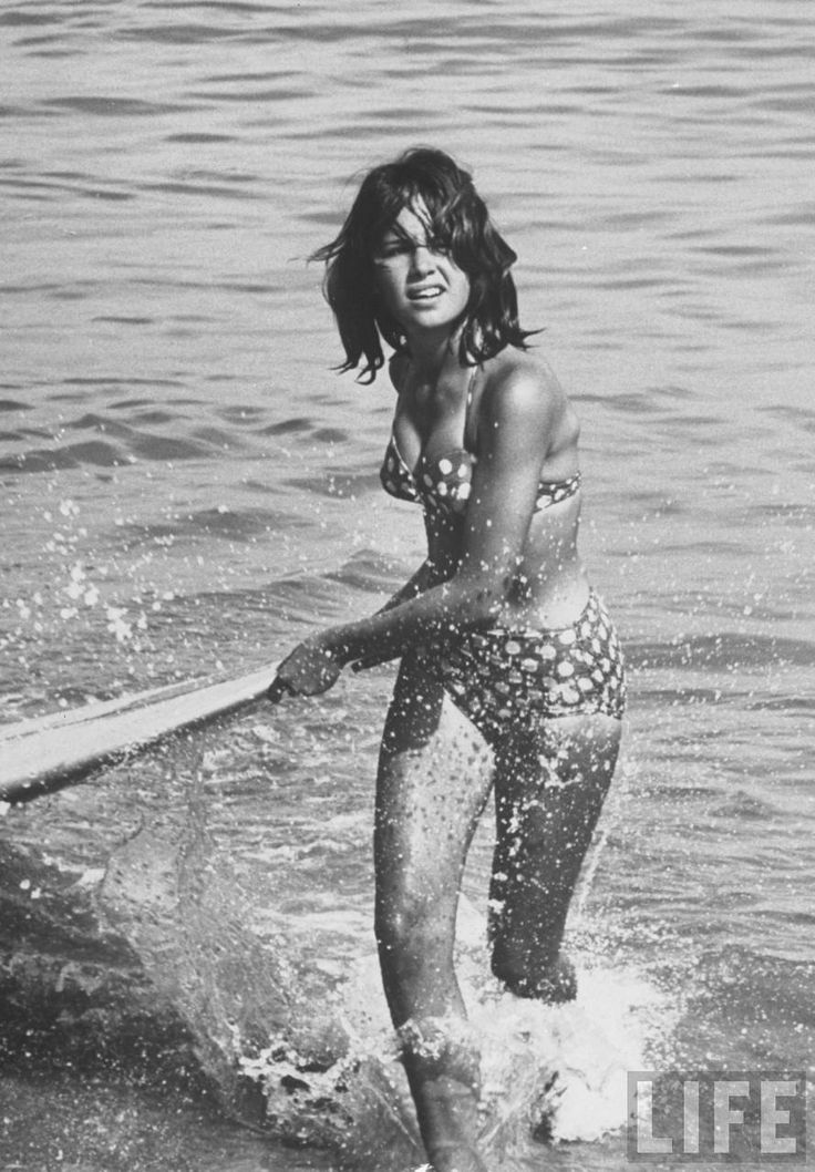 Sally Field as Gidget in Malibu by Allan Grant Life Mag  1961