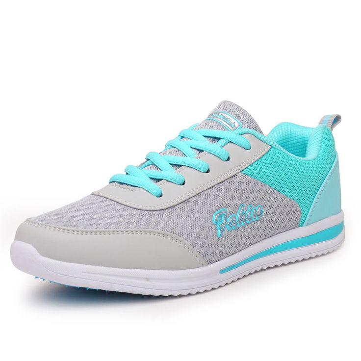 2016 נשים נעלי ריצה אור ספורט הגדלת גובה נשים נושמים סניקרס נעלי נעלי פלטפורמת בריאות לרדת במשקל