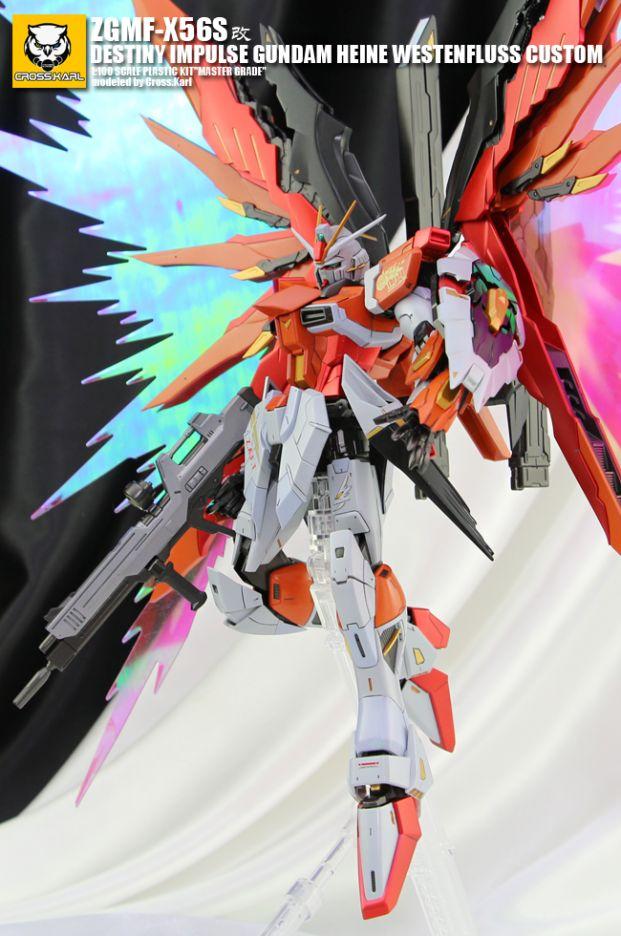POINTNET.COM.HK - MG 1/100 Destiny Impulse Gundam Heine Westenfluss Custom