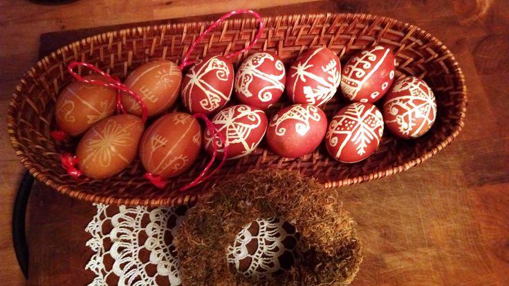 Hímes tojások / Embroidered Eggs