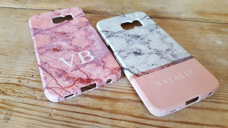 Personalised phones cases. Marble effect, personalised, monogrammed