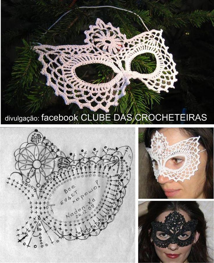 Luty Artes Crochet: Mascaras de crochê