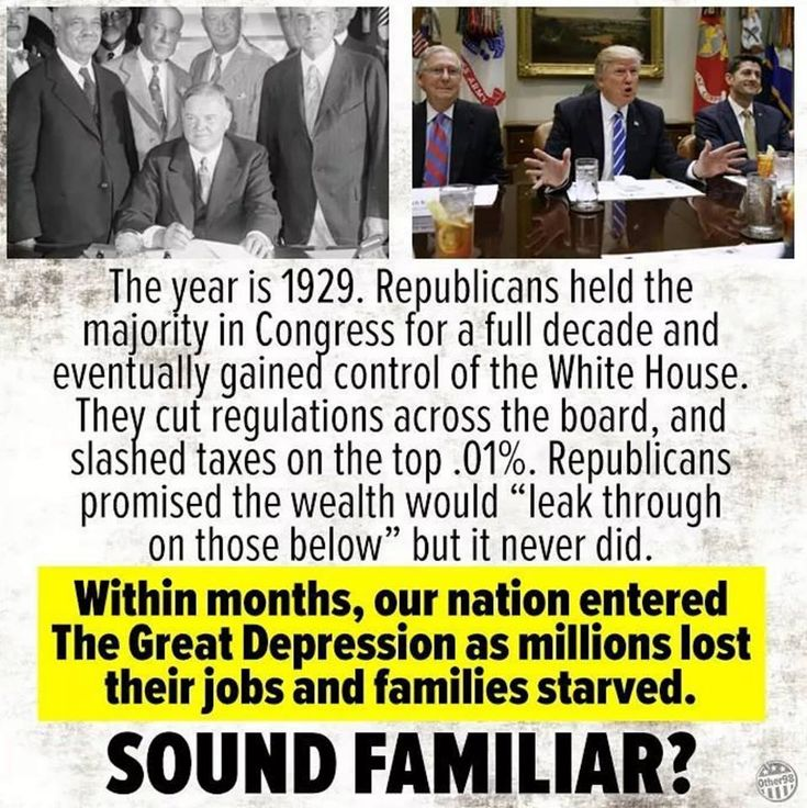Tickle down 1929, Reaganomics, and again 2017.  If you don't know history, you are doomed to repeat it!
