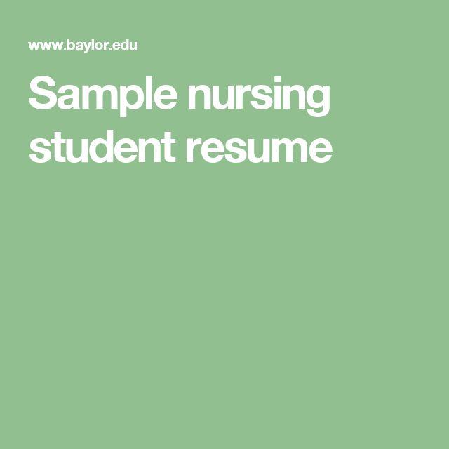 83 best Nursing images on Pinterest Nursing schools, Nursing - sane nurse sample resume