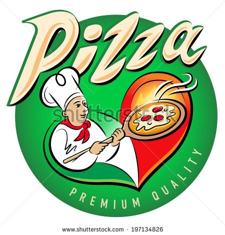 Pizza. Vector illustration isolated on a white background - stock vector
