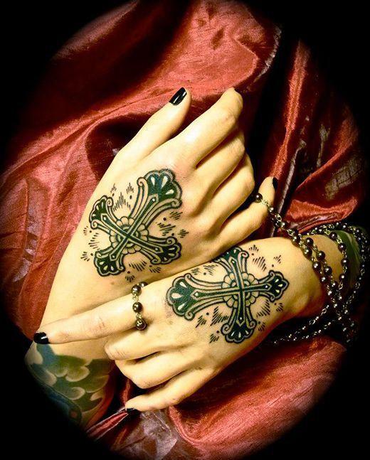 Feminine Hand Tattoos
