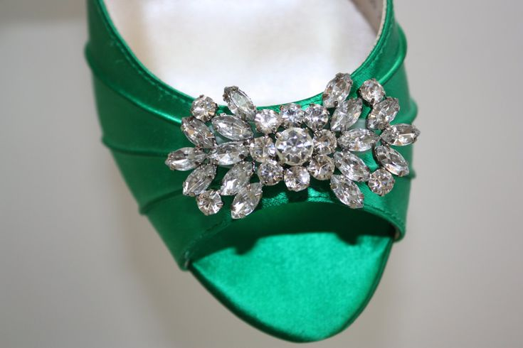 Emerald Green Wedding Shoes. $154.00, via Etsy.