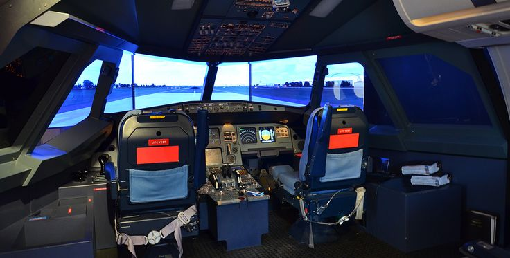 Flugsimulator Airbus A 320 in Hamburg-Langenhorn #Flugzeug #Geburtstag #Geschenk
