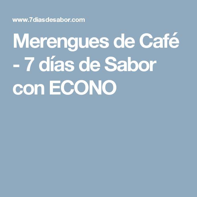 Merengues de Café - 7 días de Sabor con ECONO