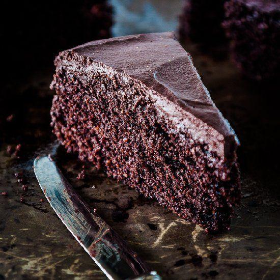 Roasted Cocoa Chocolate Cake - gluten free.
