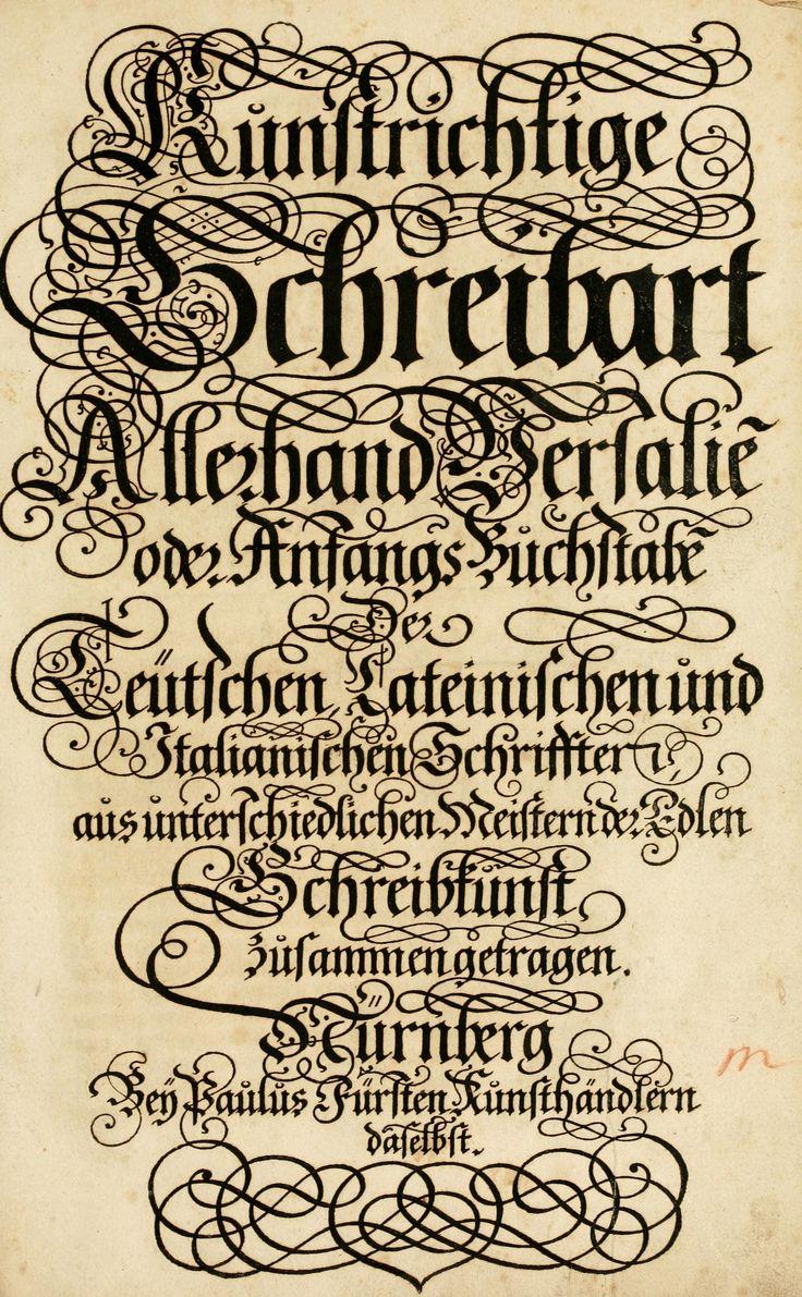 Art Lettering Designs : Kunstrichtige schreibart published in lettering