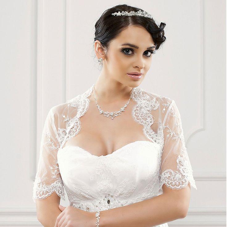 bolro mariage dentelle annalisa blanc - Bolero Mariage Blanc