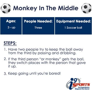 Great drill for a few kids to play and develop skills!  #soccer #youthsports #i9Sports