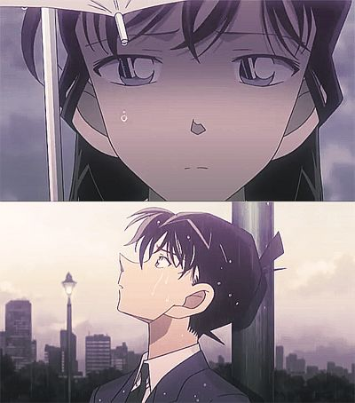 Shinichi and Ran detective Conan