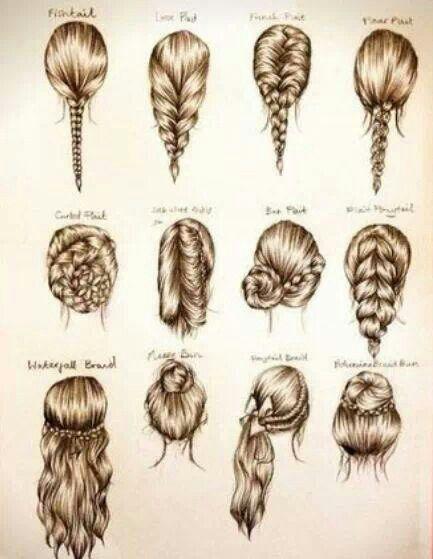 Tipos de recogidos en el cabello