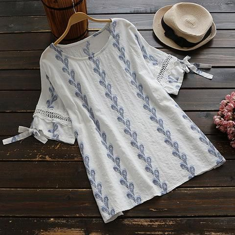 Cupshe Feather the Storm Printing Casual Top o.o