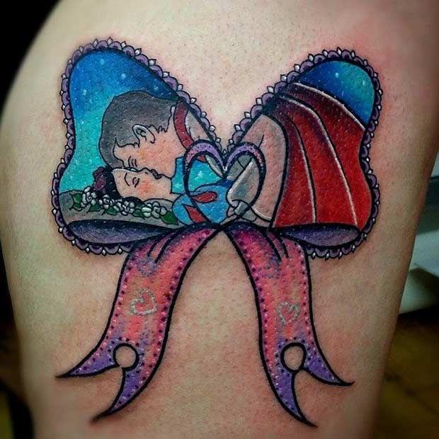 Ideias de tatuagens românticas inspiradas em filmes da Disney   QUEBREI A REGRA…