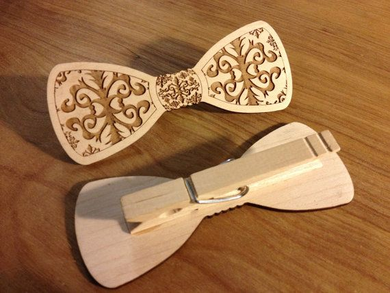 Wood Bow Tie Kit Laser Cut for Men or Women by iTagStudios on Etsy