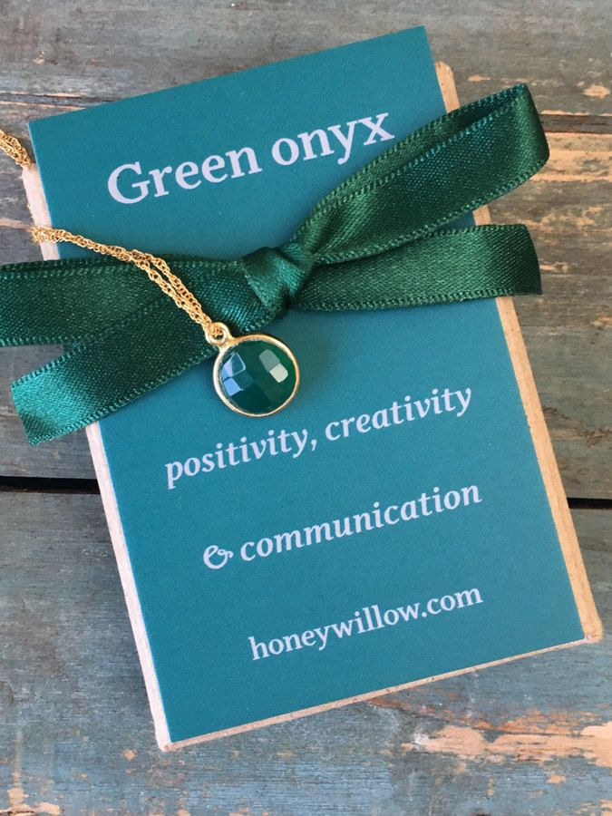 Etsy Christmas gift for her, gift for girlfriend, inspirational jewelry, green onyx necklace, green necklace #ad