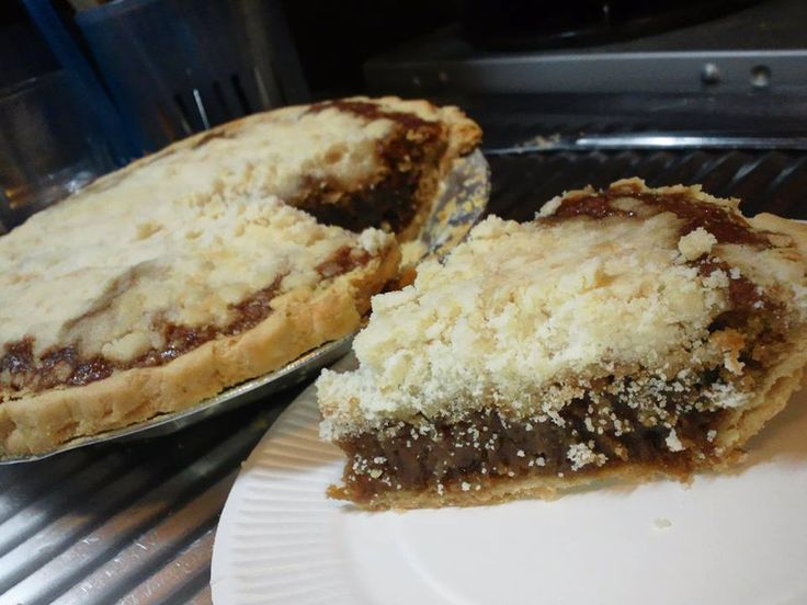 """Whether you spell it shoofly, shoo fly, shoo-fly or shoe fly, this famous molasses pie from Pennsylvania Dutch country tastes fantastic. There are both """"wet-bottom"""" and cakelike """"dry bottom"""" versions."""