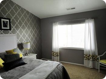 gray and yellow...like the curtains...Photobucket