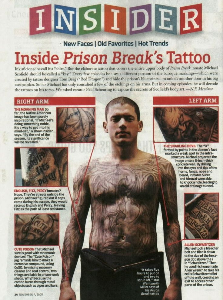 thread prison break tattoo 2 i tattoodonkey Prison Break And tattoo  PRISION BREAK ? | tattoos picture prison break tattoo