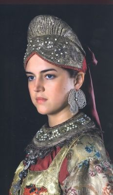Young lady in a Russian Traditional/Folk Costume.