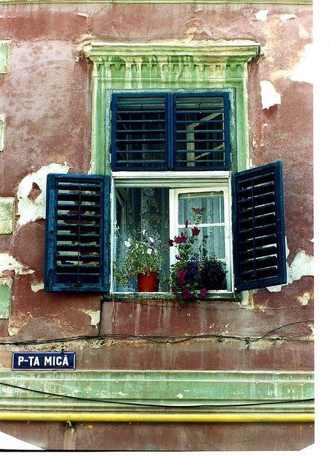 'LITTLE SQUARE' in SIBIU, ROMANIA, 2003 by PAROSCAR, via Flickr